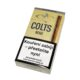 Doutníky Colts Filter Beige, 10ks-Doutníky Colts Filter Beige s příchutí vanilkovou. Cigarillos s filtrem jsou balené po 10 doutníčkách v papírové krabičce. Délka 90mm, průměr 8,5mm. Balení: 10 ks krabiček.