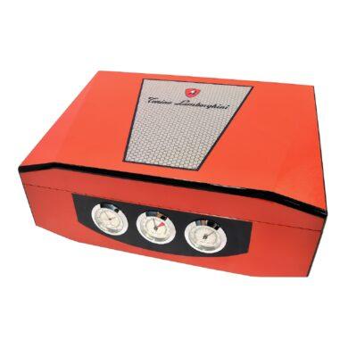 Humidor na doutníky Lamborghini oranžový 40D, stolní(91802)