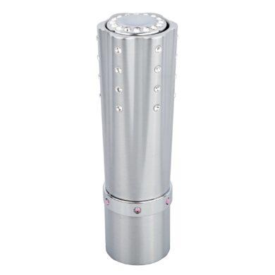 Dámský zapalovač Hadson Lipstick, stříbrný, bílé kamínky Swarovski(10240)
