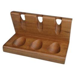 Stojánek na 3 dýmky rovný, matný teak-Dřevěný stojánek na tři dýmky. Kvalitně zpracovaný stojánek na dýmky je vyrobený z teakového dřeva. Elegantní matný povrch je v tmavě hnědém odstínu. Praktická pomůcka kuřáka dýmky a současně vzhledný doplněk jeho interiéru. Dýmkový stojánek je dodávaný v krabici. Rozměr 19,2x10,2x10,5cm.