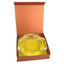 Doutníkový popelník křišťál Octagon 18cm, 4D(38004)