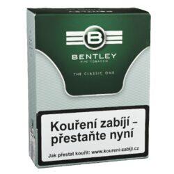 Dýmkový tabák Bentley The Classic One, 50g-Kvalitní dýmkový tabák Bentley The Classic One. Tabáková směs anglického typu připravená z viržinských a orientálních tabáků, které se slisují a poté jsou upraveny jako loose cut. Jemná, ale plná tabáková směs bez příchutě. Tabák je balený v neprodyšně uzavřené folii a v papírové originální krabičce. Balení 50g.