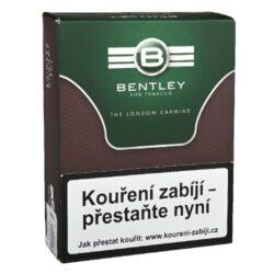 Dýmkový tabák Bentley The London Carmine, 50g-Kvalitní dýmkový tabák Bentley The London Carmine. Klasická Anglická silnější směs připravená z viržinského, Orient a dark-fired tmavých Kentucky tabáků s příjemnou dávkou Latakie. Tabák je balený v neprodyšně uzavřené folii a v papírové originální krabičce. Balení 50g.