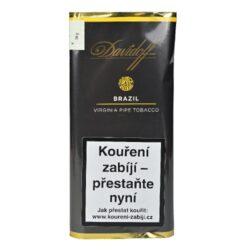Dýmkový tabák Davidoff Brazil, 50g-Kvalitní a oblíbený dýmkový tabák Davidoff Brazil. Jemná tabáková směs s příjemnou ovocnou příchutí je namíchána z dvojitě fermentovaného černé Cavendishe v kombinaci s plnými Brasil a vyzrálými tabáky Virginia v různém řezu, které jsou sušené na vzduchu. Výborná dýmková směs, kterou zakončuje jemná a ovocná nota. Balení pouch 50g.