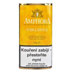 Dýmkový tabák Amphora Virginia, 50g-Dýmkový tabák Amphora Virginia. Jemná dýmková směs s přirozenou sladkostí je namíchaná z vybraných Virginských tabáků ze tří kontinentů. Balení pouch 50g.