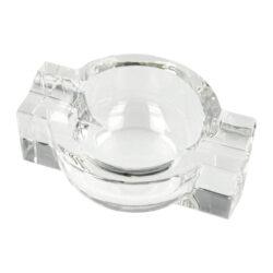 Doutníkový popelník křišťál 2D, kulatý(38011)