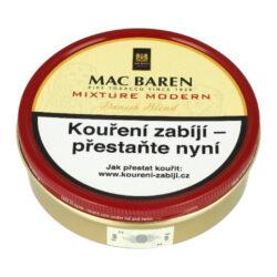 Dýmkový tabák Mac Baren Mixture Modern, 100g-Dýmkový tabák Mac Baren Mixture Modern. Jemně sladká dýmková směs z virginských tabáků, jemného červeného Cavendishe a ostře řezaného Burley, která neštípe na jazyku. Balení plechová dóza 100g.