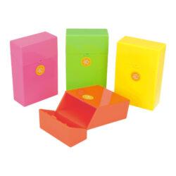 Pouzdro na cigarety Clix Boxx Neon II, Free-Plastové pouzdro na cigarety Clic Boxx. Pouzdro je určené na krabičku cigaret (20ks) velikosti King Size. Po stisknutí dojde k otevření pouzdra díky pružince. Rozměry: 9,5x5,8x2,4cm.