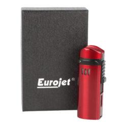 Doutníkový zapalovač Eurojet Alborg 3xjet, černý/červený(221009)