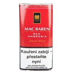 Dýmkový tabák Mac Baren Cherry Ambrosia, 50g-Velmi kvalitní a oblíbený dýmkový tabák Mac Baren. Vyvážená a chutná směs s menším množstvím tabáku Burley a převahou tabáku Virginie s velmi jemným a málo znatelným aroma. Balení pouch 50g.