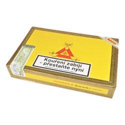 Doutníky Montecristo No 2, 25ks-Kubánské doutníky Montecristo No.2. Ručně balené doutníky se špičatou hlavou mají výbornou konstrukci. Na začátku ucítíte velmi příjemné chutě dřevité, poté Vás ale překvapí výrazné chutě spolu s kávovým aromatem. Tyto kubánské doutníky vynikající kvality jsou vyráběné z kvalitních tabákových listů ze známých tabákových plantáží. Doba hoření je cca 45-90 minut. Doutníky Montecristo patří mezi jedny z nejprodávanějších kubánských doutníků na světě díky jejich kvalitě a výborné chuti. Charakteristická je jejich výrazná středně silná až silná chuť a zapamatovatelná krabice s motivem známého románu Hrabě Monte Christo. Doutníky Montecristo No.2 jsou balené po 25 ks v originální cedrové krabici s logem Montecristo a prodávají se pouze po celém balení.  Délka: 156 mm Průměr: 20,6 mm Velikost prstýnku: 52 Tvar/velikost doutníku: Piramides Typ doutníku dle skladování: doutník vlhký  Původ doutníku: Kuba Krycí list: Kuba Vázací list: Kuba Náplň: Kuba Síla tabáku: medium to full  Doutník Montecristo No.2 byl v magazínu Cigar Aficionado vyhlášený jako vítěz TOP 25 doutníků roku 2013 s 96 body.