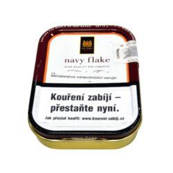 Dýmkový tabák Mac Baren Navy Flake, 50g-Velmi kvalitní a oblíbený dýmkový tabák Mac Baren Navy Flake. Směs výborné kvality a chutě z tabáků Burley, Cavendish a Virginie. Plechová krabička 50g.