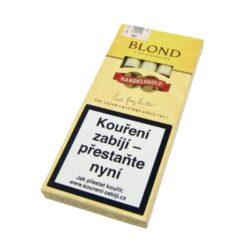 Doutníky Handelsgold Blond, 5ks-Doutníky Handelsgold Blond se špičkou a s příchutí vanilkovou. Cigarillos jsou balené po 5 doutníčkách v papírové krabičce. Délka 100mm, průměr 10mm. Balení: 10 ks krabiček.