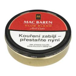 Dýmkový tabák Mac Baren Club Blend, 100g-Dýmkový tabák Mac Baren Club Blend. Středně silná tabáková směs vyzrálých tabáků Virginia a výborného Cavendishe. Správný výběr a zpracování tabáků dává směsi Club Blend výborné aroma a středně silnou přírodní chuť. Balení plechová krabička 100g.