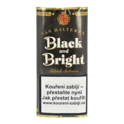 Dýmkový tabák Black and Bright, 50g-Dýmkový tabák Black and Bright. Balení pouch 50g.