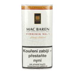 Dýmkový tabák Mac Baren Virginia No.1, 50g-Dýmkový tabák Mac Baren Virginia No.1. Směs spíše přírodního typu z vybraných listů zlaté Virginie s jemným sladkým aroma. Balení pouch 50g.
