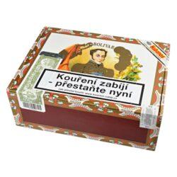 Doutníky Bolivar Tubos No. 2, 25ks-Kubánské doutníky Bolivar Tubos No. 2. Kvalitní doutníky v oblíbeném formátu z portfolia značky Bolivar. Doutníky tohoto výrobce jsou obecně jedny z nejsilnějších doutníků a to ocení především zkušení kuřáci. Ale i začínajícího kuřáka doutníků mile překvapí velmi příjemné chutě, které tyto doutníky poskytují. Doutníky Bolivar Tubos No. 2 jsou příjemné kořeněné chutě s jemným náznakem kakaa. Doutníky jsou ručně balené a jsou vyráběné z kvalitních tabáků ze známých kubánských plantáží. Bolivar Tubos No. 2 je příjemný doutník pro kvalitní každodenní pokouření u sklenky dobrého drinku. Doba hoření je cca 30 - 45 minut. Doutníky Bolivar Tubos No. 2 jsou balené po 25 ks v hliníkovém tubusu s cedrovou vložkou a dodávané v originální cedrové krabici. Prodávají se pouze po celém balení.  Délka: 129 mm Průměr: 16,4 mm Velikost prstýnku: 40 Tvar/velikost doutníku: Petit Corona Typ doutníku dle skladování: doutník vlhký  Původ doutníku: Kuba Krycí list: Kuba Natural Vázací list: Kuba Natural (Vuelta Abajo) Náplň: Kuba Natural (Vuelta Abajo) Síla tabáku: full