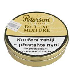Dýmkový tabák Peterson De Luxe Mixture, 50g-Kvalitní dýmkový tabák Peterson De Luxe Mixture. Balení plechová krabička 50g.