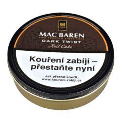 Dýmkový tabák Mac Baren Dark Twist, 100g-Dýmkový tabák Mac Baren Dark Twist. Výborná jemná směs s mírnou přírodní vůní je velmi lahodně namíchaná z kořeněného Cavendishe a tabáku virginského. Jemná, ale současně plná chuť této dýmkové směsi jistě potěší každého kuřáka dýmky. Balení plechová dóza 100g.