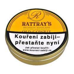 Dýmkový tabák Rattrays Old Gowrie, 50g-Kvalitní dýmkový tabák Rattrays Old Gowrie. Typická směs virginských tabáků slisovaných do flaku, které jsou strojově roztrhané. Směs příjemné sladké chuti a plná aroma virginských tabáků je vyráběna dle staré receptury, která zachovává aromatické oleje uvnitř této vynikající směsi. Balení plechová dóza 50g.