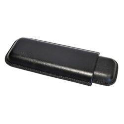 Pouzdro na 2 doutníky Etue Angelo, černé, kožené, 180mm-Etue - pouzdro na dva doutníky. Černé pouzdro na doutníky je dlouhé 180mm, průměr 18mm. Doutníkové pouzdro je kožené.