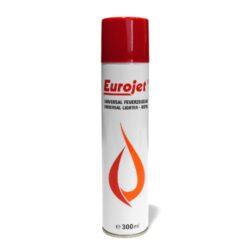 Plyn do zapalovače Eurojet 300ml-Plyn do zapalovačů v balení 300 ml. Kryt obsahuje 5 různých redukcí na plnění běžně prodávaných zapalovačů. Plnicí hrot je plastový.