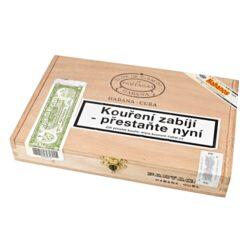 Doutníky Partagas Serie D No.4, 10ks-Kubánské doutníky Partagas Serie D No.4. Jedny z nejlepších kubánských doutníku na světě a nejprodávanější ve velikosti Robusto. Doutníky Partagas Serie D No.4 mají vynikající chuť po zemině, čokoládě, cedru a kůže současně s jemnými tóny chutného citrónu. Kubánské doutníky Partagas jsou ručně vyráběné z kvalitních tabákových listů, které zaručují výbornou chuť a kvalitu těchto doutníků. Doba hoření je cca 50-70 minut. Doutníky jsou balené po 10 ks v cedrové krabici a prodávají se pouze po celém balení.  Délka: 124 mm Průměr: 19,8 mm Velikost prstýnku: 50 Tvar/velikost doutníku: Robusto Typ doutníku dle skladování: doutník vlhký  Původ doutníku: Kuba Krycí list: Kuba natural Vázací list: Kuba natural Náplň: Kuba natural Síla tabáku: full