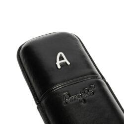 Pouzdro na 2 doutníky Etue Angelo, černé, koženka, 180mm(81211)