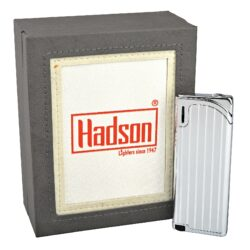 Zapalovač Hadson Slim, stříbrný, rýhy(10515)