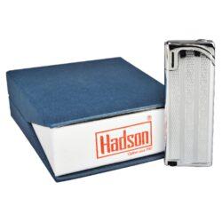 Zapalovač Hadson Slim, stříbrný, proužky(10517)