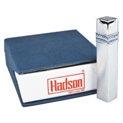Dámský zapalovač Hadson Square, stříbrný, safíry Swarovski(10206)