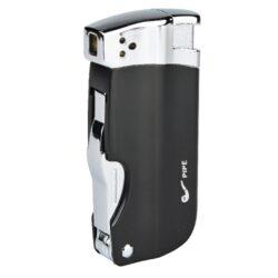 Dýmkový zapalovač Hadson Pipe Multi, černý-Dýmkový zapalovač Hadson s trojdílným příslušenstvím pro dýmku. Kvalitně zpracovaný kovový zapalovač pro kuřáky dýmky s bočním plamenem je v černém matném provedení s prvky v lesklém chromu. Dýmkový zapalovač je vybaven praktickým integrovaným dýmkovým příslušenstvím, které každý kuřák dýmky každodenně potřebuje. Na spodní straně zapalovače najdeme plnící ventil a ovládání intenzity plamene. Zapalovač je dodávaný v dárkové krabičce. Výška 7,5cm.