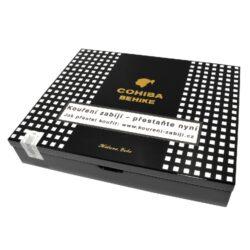 Doutníky Cohiba Behike 56, 10ks-Kubánské doutníky Cohiba Behike 56. Nejexklusivnější řada kubánských doutníků Cohiba vyrobená z nejlepších kubánských tabáků. Poprvé se doutníky řady Behike dostali na trh v roce 2006 ke 40. výročí značky Cohiba. Ve známé továrně v La Havaně bylo vyrobeno pouhých 4000 doutníků. Při ruční výrobě této řady doutníků se používá tabákový list Medio Tiempo. Díky tomuto tabákovému listu mají doutníky Behike BHK 56 výjimečnou chuť, příjemnou silnou vůni a jsou velmi oblíbené mezi znalci doutníků. V exklusivní řadě Behike se vyrábí tři velikosti doutníků a to BHK 52, BHK 54 a BHK 56. Doutníky Cohiba Behike 56 patří mezi nejlepší doutníky, které kdy byly na Kubě vyráběné. Toto je i důvod, proč společnost Habanos tyto doutníky produkuje v omezeném ročním množství. Doutníky jsou balené po 10 ks v nádherném cedrovém boxu s logem a prodávají se pouze po celém balení.  Délka: 166 mm Průměr: 22,2 mm Velikost prstýnku: 56 Tvar/velikost doutníku: Double Robusto Typ doutníku dle skladování: doutník vlhký  Původ doutníku: Kuba Krycí list: Kuba (San Juan y Martinez and Vuelta Abajo) Vázací list: Kuba (San Juan y Martinez and Vuelta Abajo) Náplň: Kuba (San Juan y Martinez and Vuelta Abajo) Síla tabáku: medium-full  Hodnocení doutníků Cohiba Behike 56: Absolutní vítěz za rok 2010 v TOP25 nejlepších doutníků světa podle odborném magazínu Cigar Aficionado - získal 97 bodů ze 100.