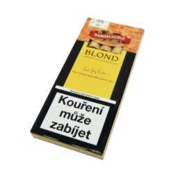 Doutníky Handelsgold Wood Blond, 5ks-Doutníky Handelsgold Wood Blond s dřevěnou špičkou a příchutí vanilkovou. Cigarillos jsou balené po 5 doutníčkách v papírové krabičce. Délka 96mm, průměr 9mm. Balení: 10 ks krabiček.