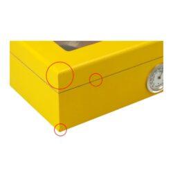 Humidor na doutníky Yellow prosklený 25D, stolní(920460)