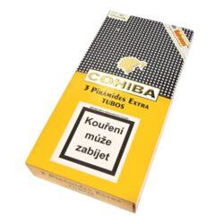 Doutníky Cohiba Piramides Extra A/T, 3ks-Kubánské doutníky Cohiba Piramides Extra A/T. Balené po 3 ks. Délka: 160mm, průměr: 21mm. Odběr po celém balení.