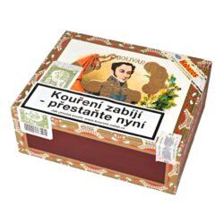 Doutníky Bolivar Tubos No. 3, 25ks-Kubánské doutníky Bolivar Tubos No. 3. Kvalitní doutníky menšího oblíbeného formátu Panatela z portfolia značky Bolivar. Doutníky tohoto výrobce jsou obecně jedny z nejsilnějších doutníků a to ocení především zkušení kuřáci. Ale i začínajícího kuřáka doutníků mile překvapí velmi příjemné chutě, které tyto doutníky poskytují. Doutníky Bolivar Tubos No. 3 jsou silnější, ale příjemné tabákové chutě a při jejich kouření Vás mile překvapí sladká chuť sušených ovocných plodů. Doutníky jsou ručně balené a jsou vyráběné z kvalitních tabáků ze známých kubánských plantáží. Doba hoření je cca 35 - 50 minut. Doutníky Bolivar Tubos No. 3 jsou balené po 25 ks v hliníkové tubě a dodávané v originální cedrové krabici. Prodávají se pouze po celém balení.  Délka: 124 mm Průměr: 13 mm Velikost prstýnku: 33 Tvar/velikost doutníku: Panatela Typ doutníku dle skladování: doutník vlhký  Původ doutníku: Kuba Krycí list: Kuba Natural Vázací list: Kuba Natural Náplň: Kuba Natural  Síla tabáku: full