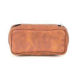 Etue na 2 dýmky, světlehnědá-Pouzdro na 2 dýmky se zipem a vnitřní kapsou na tabák. Provedení: koženka.