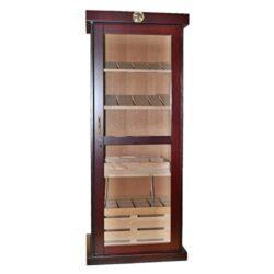 Humidor na doutníky Cabinet třešeň 300D, skříňový-Skříňový humidor na doutníky s kapacitou cca 300 doutníků. Dodáván se zámkem, pěti poličkami, bez vlhkoměru a zvlhčovače. Vnitřek humidoru je vyložený cedrovým dřevem. Rozměr: 176x67x47cm. Váha 82kg.