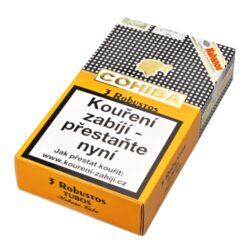 Doutníky Cohiba Robustos Tubos A/T, 3ks-Kubánské doutníky Cohiba Robustos Tubos A/T. Balené po 3 ks. Délka: 124mm, průměr: 19,8mm. Odběr po celém balení.