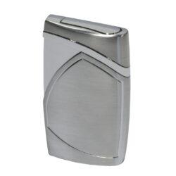 Tryskový zapalovač Eurojet Monza, stříbrný-Tryskový zapalovač. Zapalovač je plnitelný. Výška 6,5 cm. Tryskový zapalovač je dodáván v dárkové krabičce.