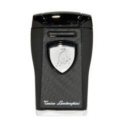 Tryskový zapalovač Lamborghini Argo, černý-Stylový tryskový zapalovač Tonino Lamborghini Argo. Kvalitně zpracovaný zapalovač obsahuje na spodní straně nastavení intenzity plamene a ventil pro plnění. Tryskový zapalovač je dodáván v kožené krabičce vyložené jemným sametem. Ideální jako dárek pro kuřáky cigaret. Výška 7cm.