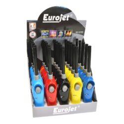 Domácnostní zapalovač Eurojet FireMan-Piezoelektrický zapalovač plynového sporáku Eurojet. Plynový domácnostní zapalovač je vhodný nejen k zapálení sporáku, ale i k zapálení krbů, grilů nebo svíček. Ve spodní části najdeme plnící ventil plynu, na horní straně regulaci intenzity plamene a dětskou pojistku. Cena je uvedená za 1 ks. Před odesláním objednávky uveďte číslo barevného provedení do poznámky.
