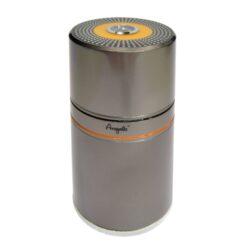 Humidor na doutníky Angelo 7D, cestovní-Kvalitní cestovní humidor na doutníky s kapacitou 7 doutníků. Stylový kovový humidor Angelo je vybavený vlhkoměrem a zvlhčovačem. Prostor pro doutníky max. 18 cm výška, průměr otvorů 2,4 cm. Celkový rozměr humidoru: 20x9 cm.
