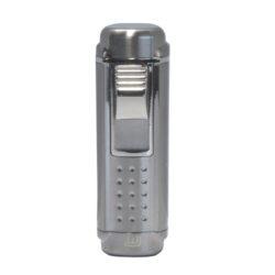 Doutníkový zapalovač Winjet Zug, stříbrný-Doutníkový zapalovač. Tryskový zapalovač na doutníky má integrovaný vyštípávač. Zapalovač je plnitelný. Doutníkový zapalovač je dodáván v dárkové krabičce. Výška 8,5cm.
