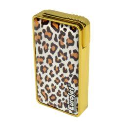 Zapalovač Eurojet Animal, zlatý-Žhavící zapalovač. Zapalovač je plnitelný. Výška 6,2cm. Žhavící zapalovač je dodáván v dárkové krabičce.