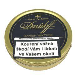 Dýmkový tabák Davidoff Danish Mixture, 50g-Kvalitní dýmkový tabák Davidoff Danish Mixture. Výjimečná, klasická dánská směs vyráběná z nejlepších Virginia a Burley tabáků, obohacená o špetku tabáku Black Cavendish. Balení plechová krabička 50g.