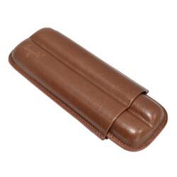 Pouzdro na 2 doutníky Etue Angelo, hnědé, kožené, 170mm-Etue - pouzdro na dva doutníky. Hnědé pouzdro na doutníky je dlouhé 170mm, průměr 18mm. Doutníkové pouzdro je kožené.