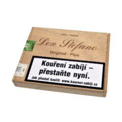 Doutníky Don Stefano Pipe Original, 12ks-Doutníky Don Stefano Pipe Original vyrobené v Německu. Doutníky jsou dodávané v dřevěné krabičce po 12 ks. Odběr po celém balení.  Délka: 87 mm Průměr: 9 mm Typ doutníku dle skladování: doutníky suché