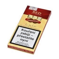 Doutníky Handelsgold Red, 5ks-Doutníky Handelsgold Red s příchutí cherry. Cigarillos jsou balené po 5 doutníčkách v papírové krabičce. Délka 100mm, průměr 10mm. Balení: 10 ks krabiček.
